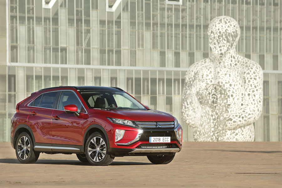 Test Mitsubishi Eclipse Cross på snö och is
