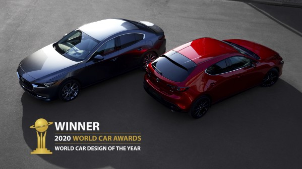 "Mazda 3 blev korad till ""World Car Design of the Year"""
